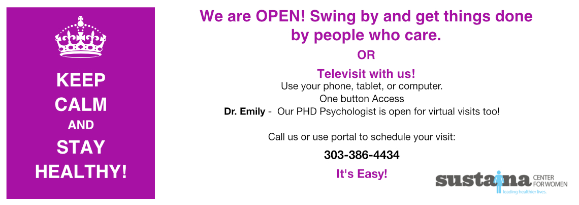 Televist. Call us 303-386-4434 or use the portal.